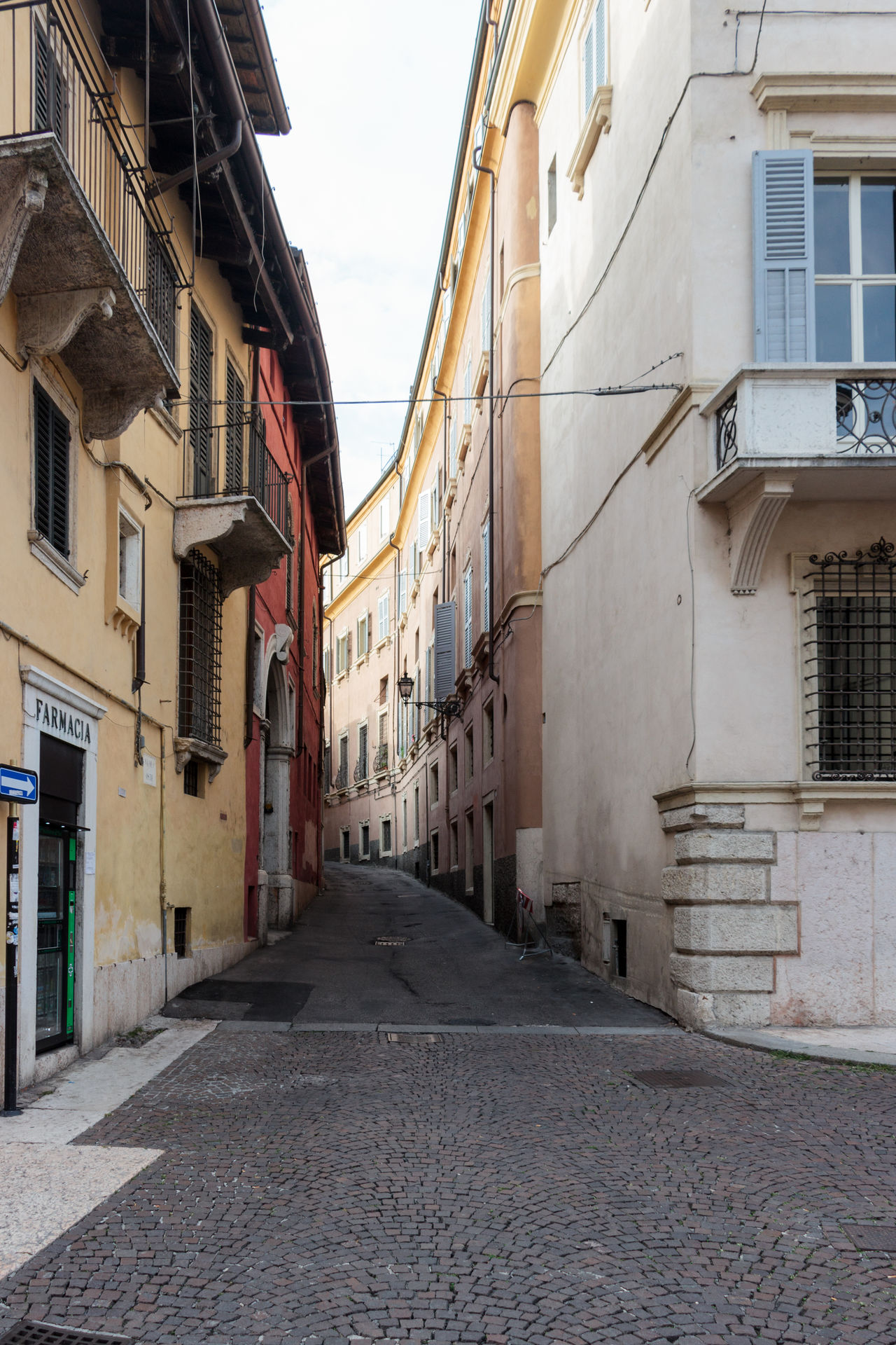 Verona, Italy - September 27, 2015 : Quiet streets of the old city of Verona. Vicolo Osite street corner in Verona, Italy Architecture Architecture Art Building City Culture Day Europe Famous History House Italy Landmark Old Outdoors People Square Street Tourism Town Travel Urban Verona View Walking