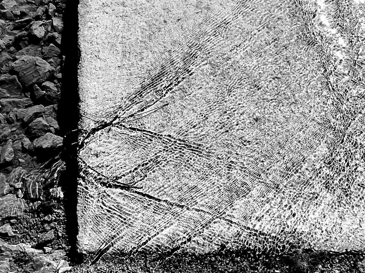 Pattern Pieces Aftermath Of Snowstorm '16 Creek Water Water Over Road Water_collection Abstract there was a stick stuck on the edge of the bridge, water going around it making this cute pattern... Serenity