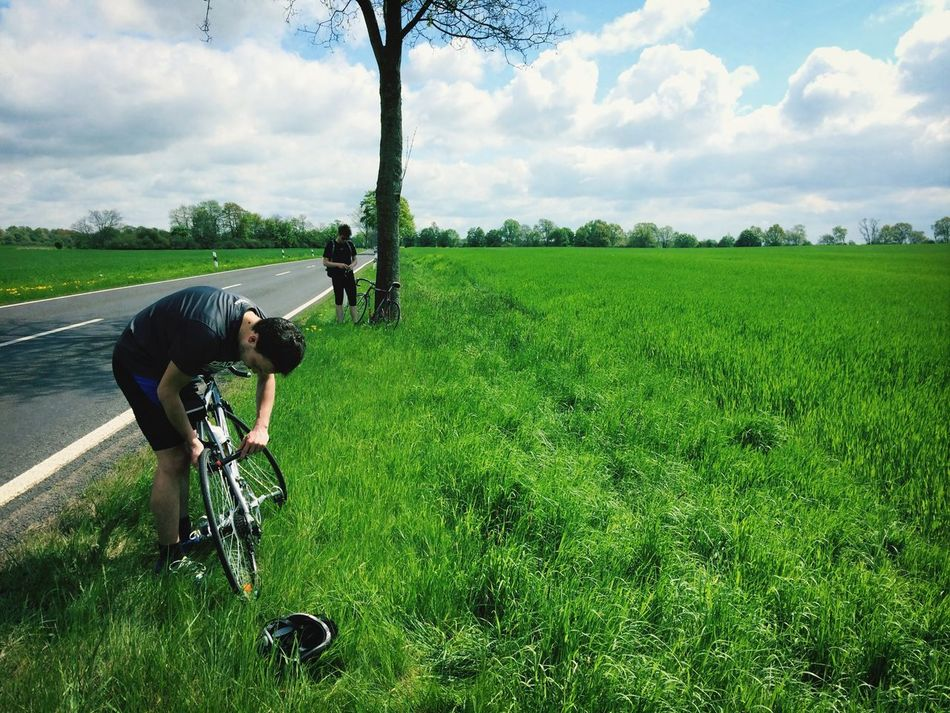 Bike Trip Having A Break In The Middle Of The Road Biking To Poland Share Your Adventure Highlights From Share Your Adventure