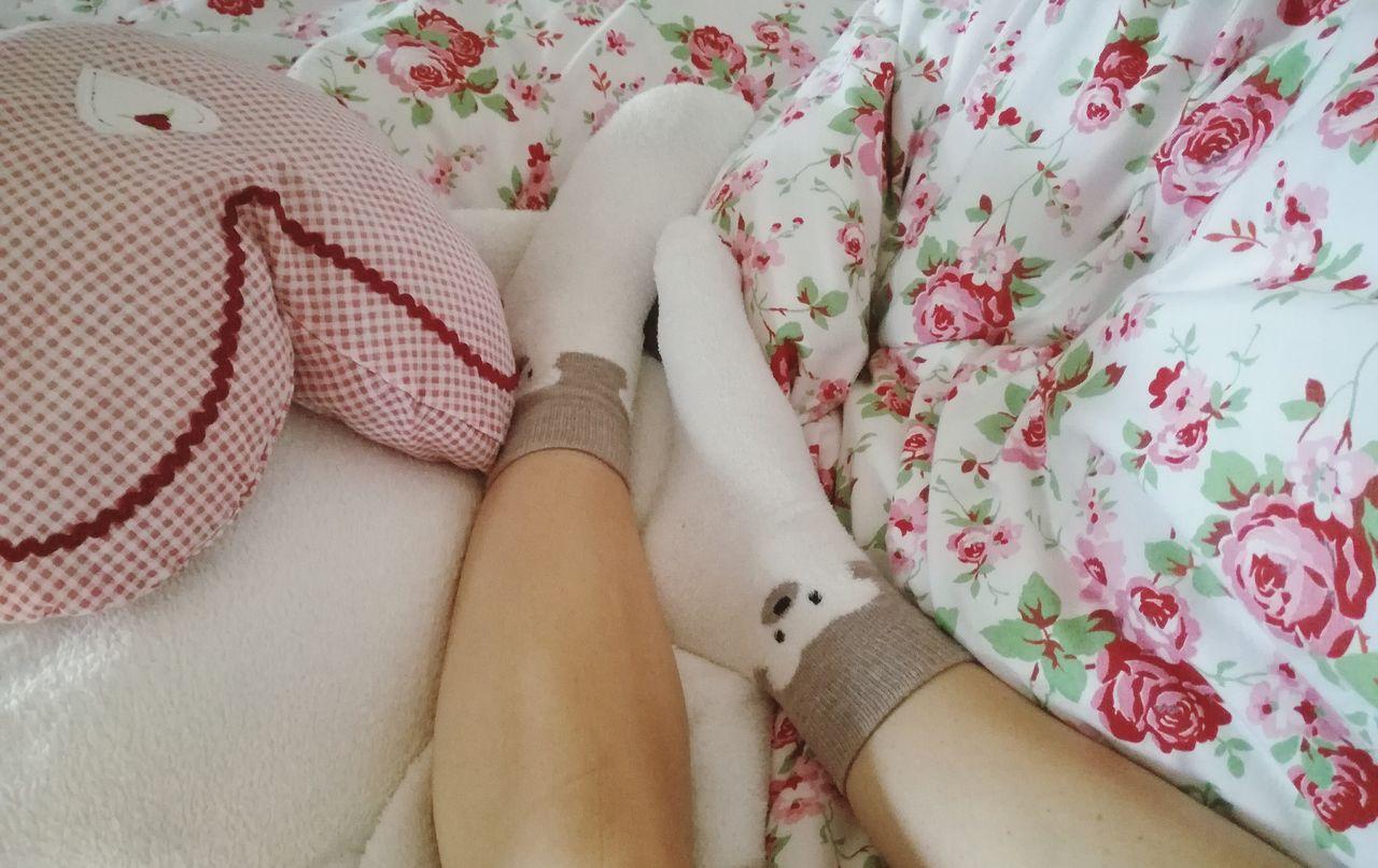 Cozy sunday 🐻❄. TK Maxx Socksie Always Be Cozy Home Bed Sunday Rosé Bear Socks Lazy Cozy Cuddly Bedroom Human Leg Adult Simplicity Pattern Taking Photos EyeEm Best Shots