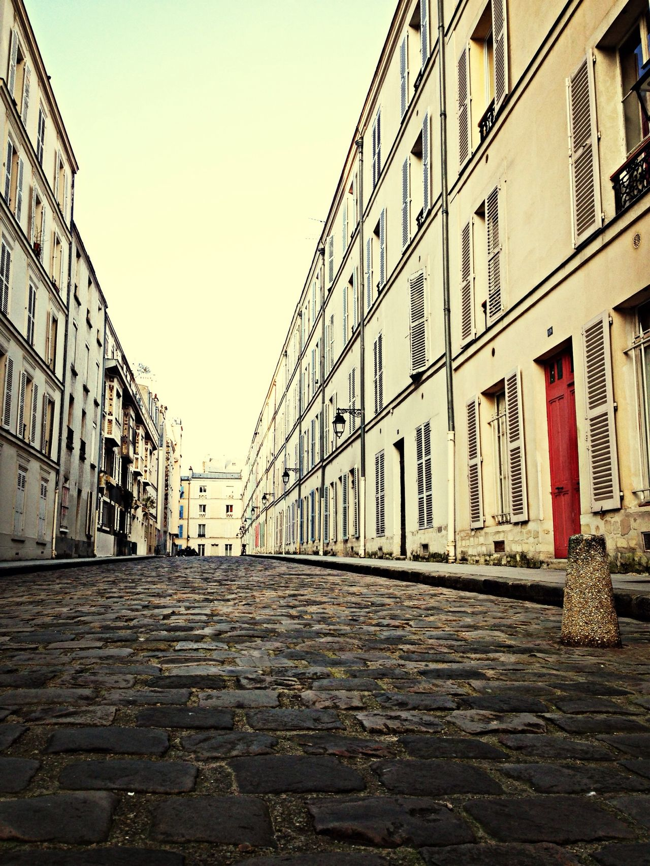 A rare occurrence: An empty street in Paris. A pretty one at that too Paris Empty Deserted