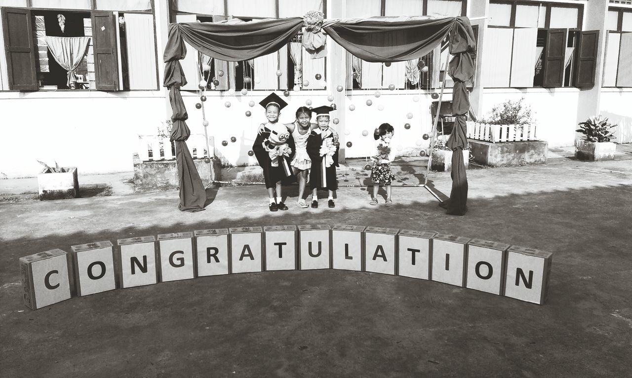 Outdoors Congratulations Finishschool Children Happiness ♡