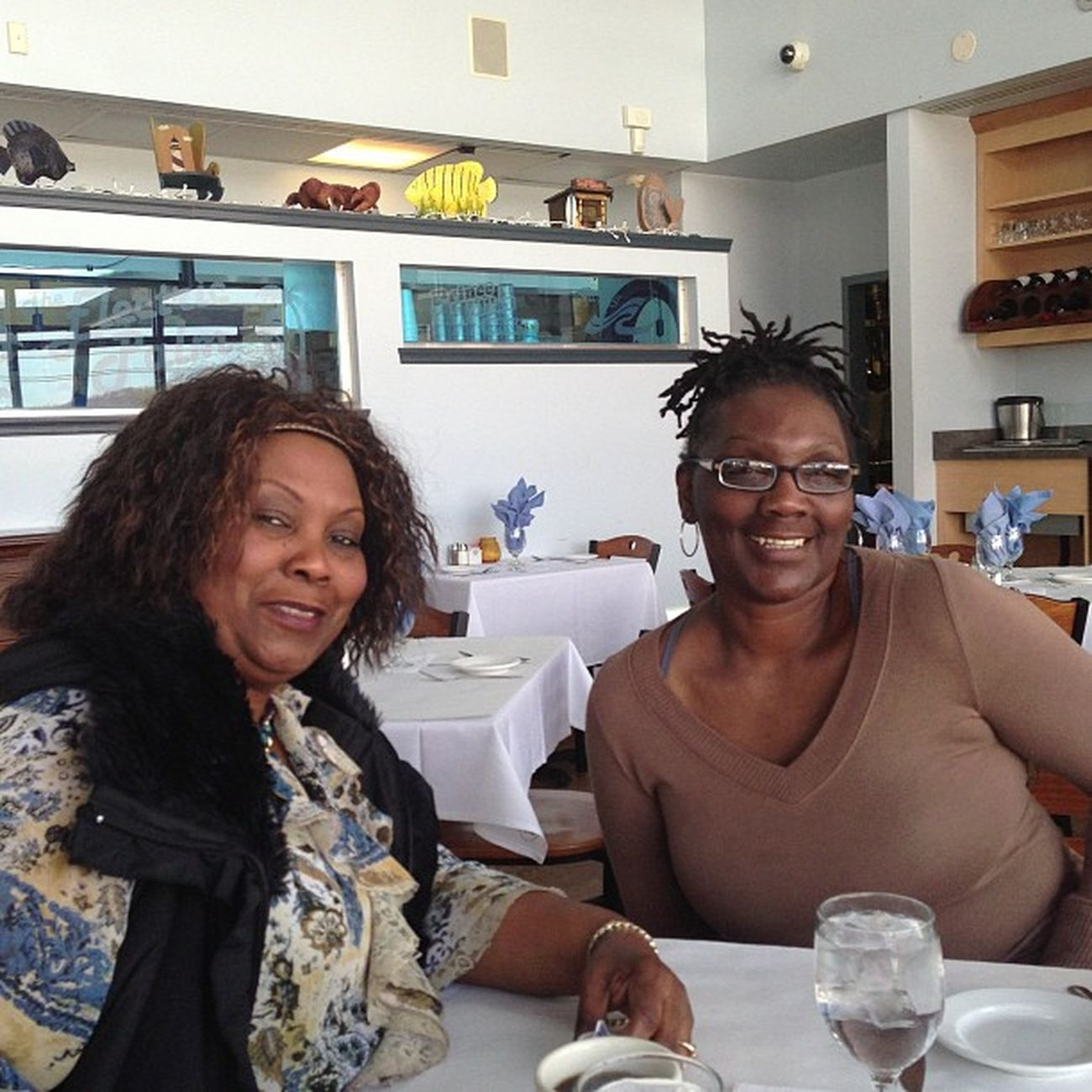 My mommy and Aunt Lucille, love these ladies! We're having lunch to avoid traffic!