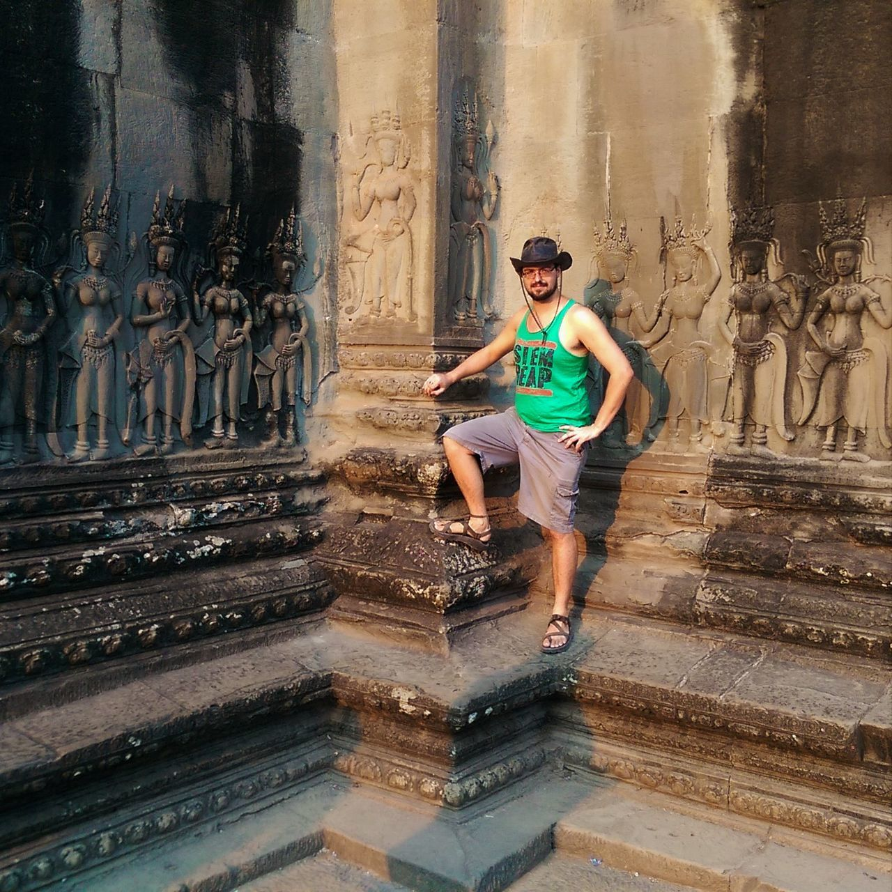 Angkor Wat Antient Cambodia Casual Clothing Chaco Culture Day Fun Leisure Activity Lifestyles Temple Tourism