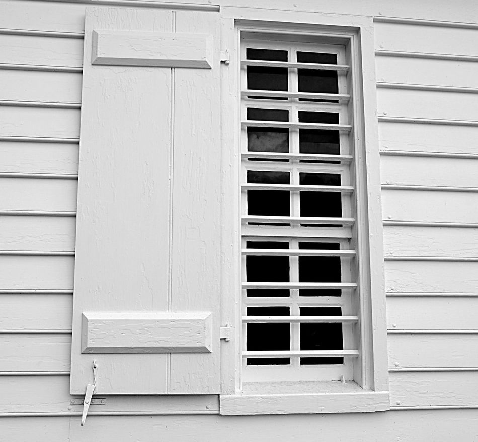 White Color Outdoors White On White Shutter Monochrome Architecture Wooden No People Day Colonial Window Pjpink