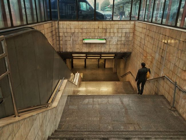 Real People Walking Lifestyles One Person Built Structure Steps Steps And Staircases Architecture Day People Subway Station Passenger Commuter Public Transportation Architecture Transportation Entrance Door Mode Of Transport