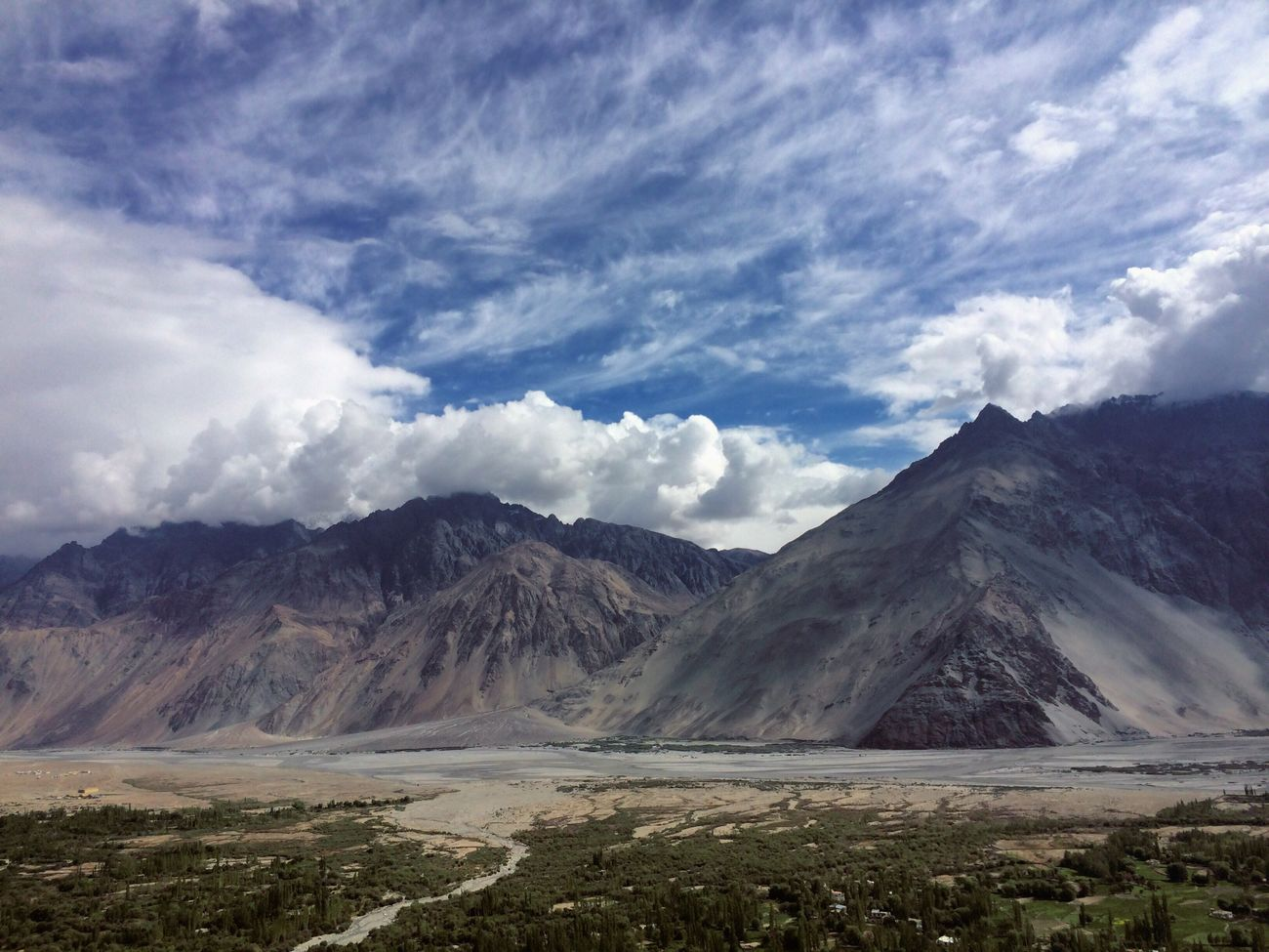 Mountain Sky Scenics Tranquil Scene Landscape Water Cloud Cloud - Sky Non-urban Scene Tranquility Mountain Range Beauty In Nature Day Nature Geology Blue Physical Geography Tourism Outdoors Majestic India JammuandKashmir Ladakh