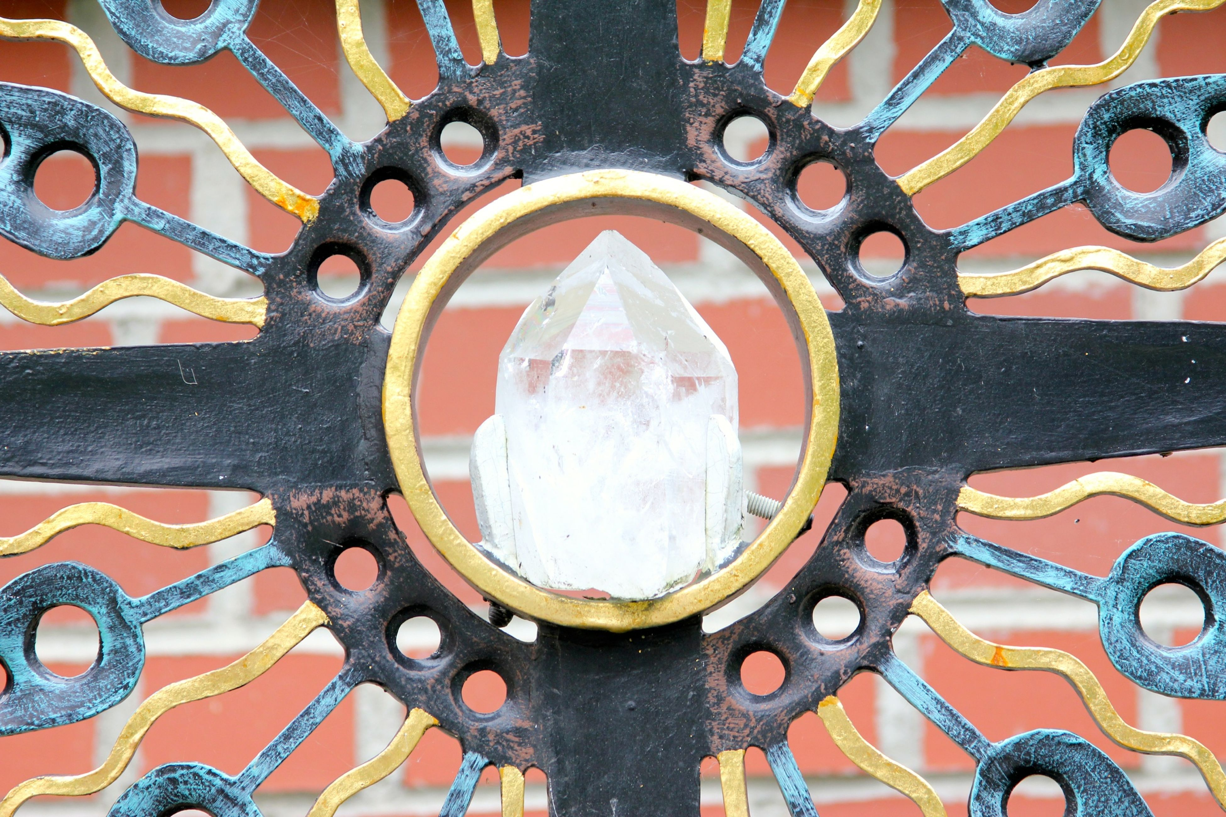 circle, close-up, full frame, day, no people, pattern, outdoors, rusty, multi colored, backgrounds