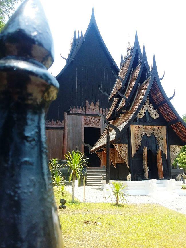 Black Temple in Chiangrai. Temple Black Chiangrai Thailand