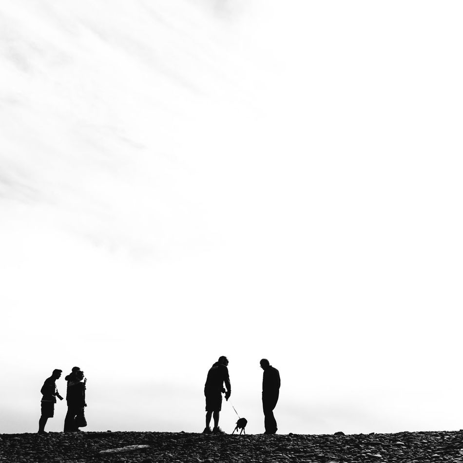 """""""Black and white are the colors of photography."""" Outdoors Silhouette Sky People SONY A7ii Travel Wanderlust PNWonderland My Year My View PNW EyeEm Masterclass Black & White Otherworldly"""