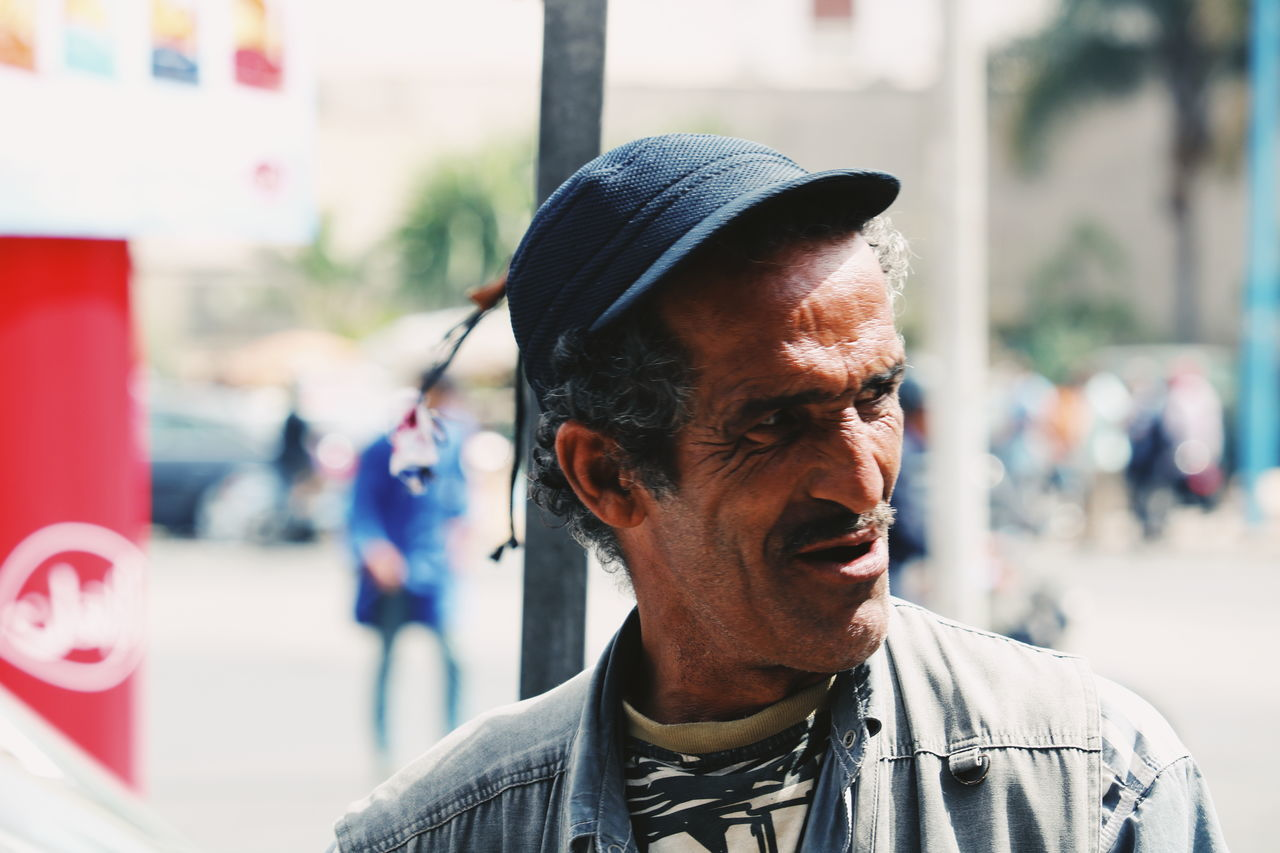 C a s a b l a n c a // M a r o c c o Incidental People Headshot One Man Only Only Men Focus On Foreground One Person Arts Culture And Entertainment Men City Casablanca, Morocco CasablancaStreets Marocco VSCO