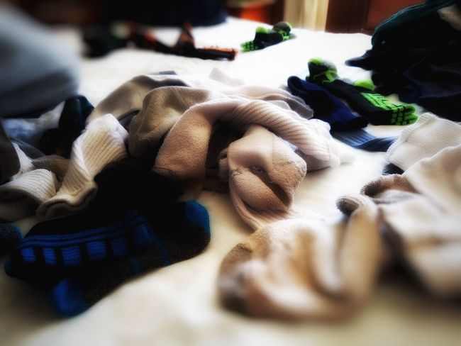 Boymom struggle - matching Socks Indoors  Close-up Adults Only No People Adult Day Only Men Laundry Motherswork