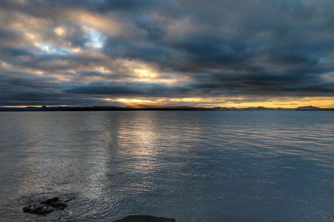 Sea Outdoors Reflection Dramatic Sky Cloud - Sky Storm Cloud No People Morning Light Morning Walk Keflavík Njarðvik Cloudscape Nature Sky