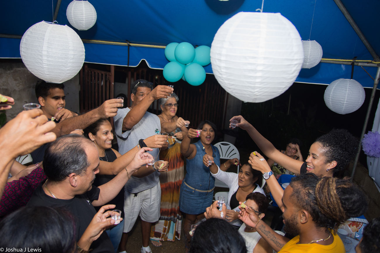 FamilyTime Drinks Shots Trinidadandtobago Birthdayparty Ballons People