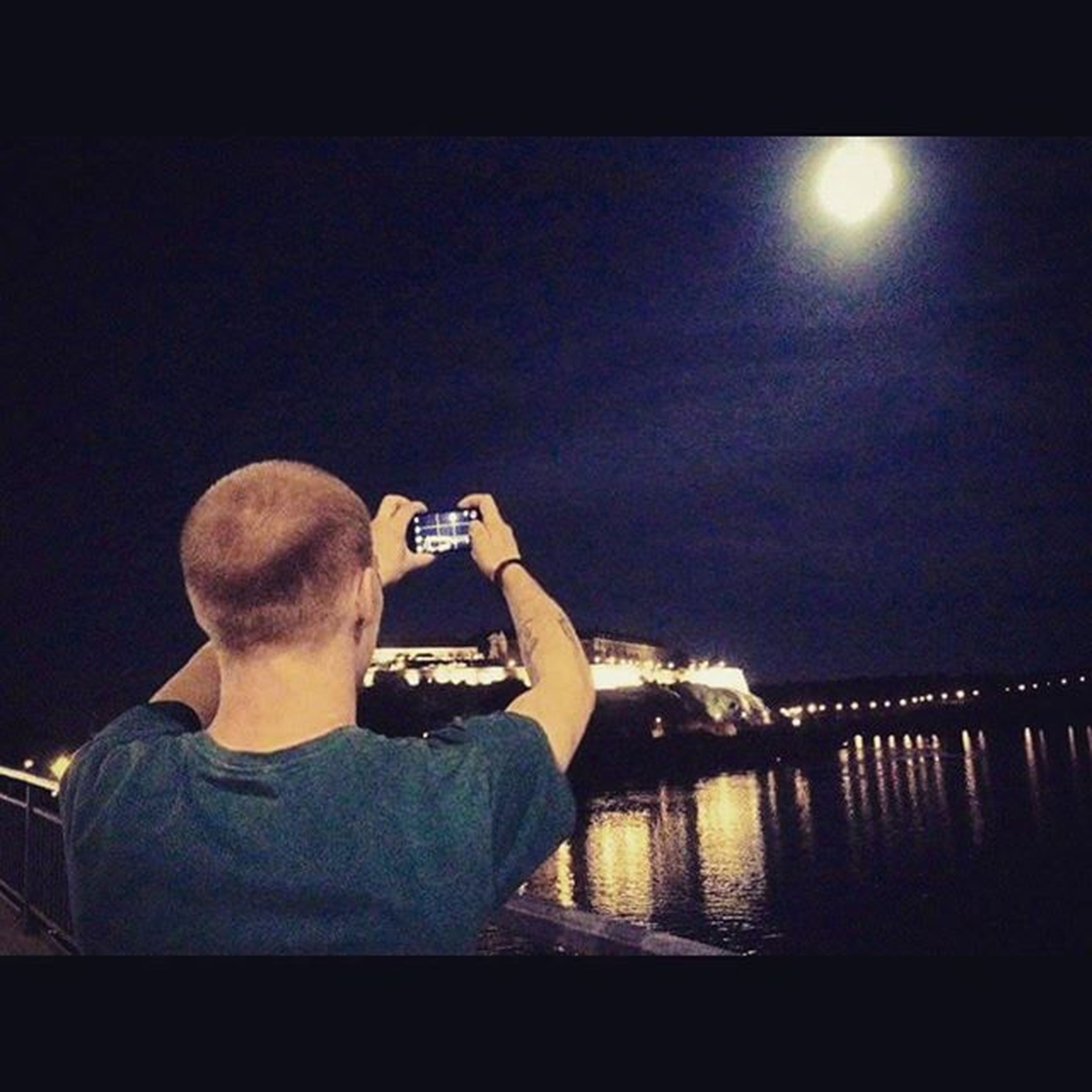 Sky Moon Light Tvrdjava Petrovaradinfortress Magical Photo Capture Danube Novisad Vjvodina Insta Instaphoto Instamoment Instadaily