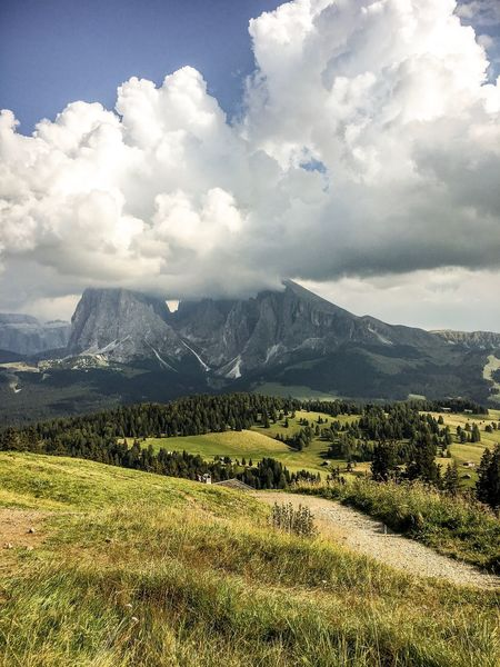 Dolomites, Italy Mountain Cloud - Sky Climbing Alps Langkofel Plattkofel Hiking Lost In The Landscape