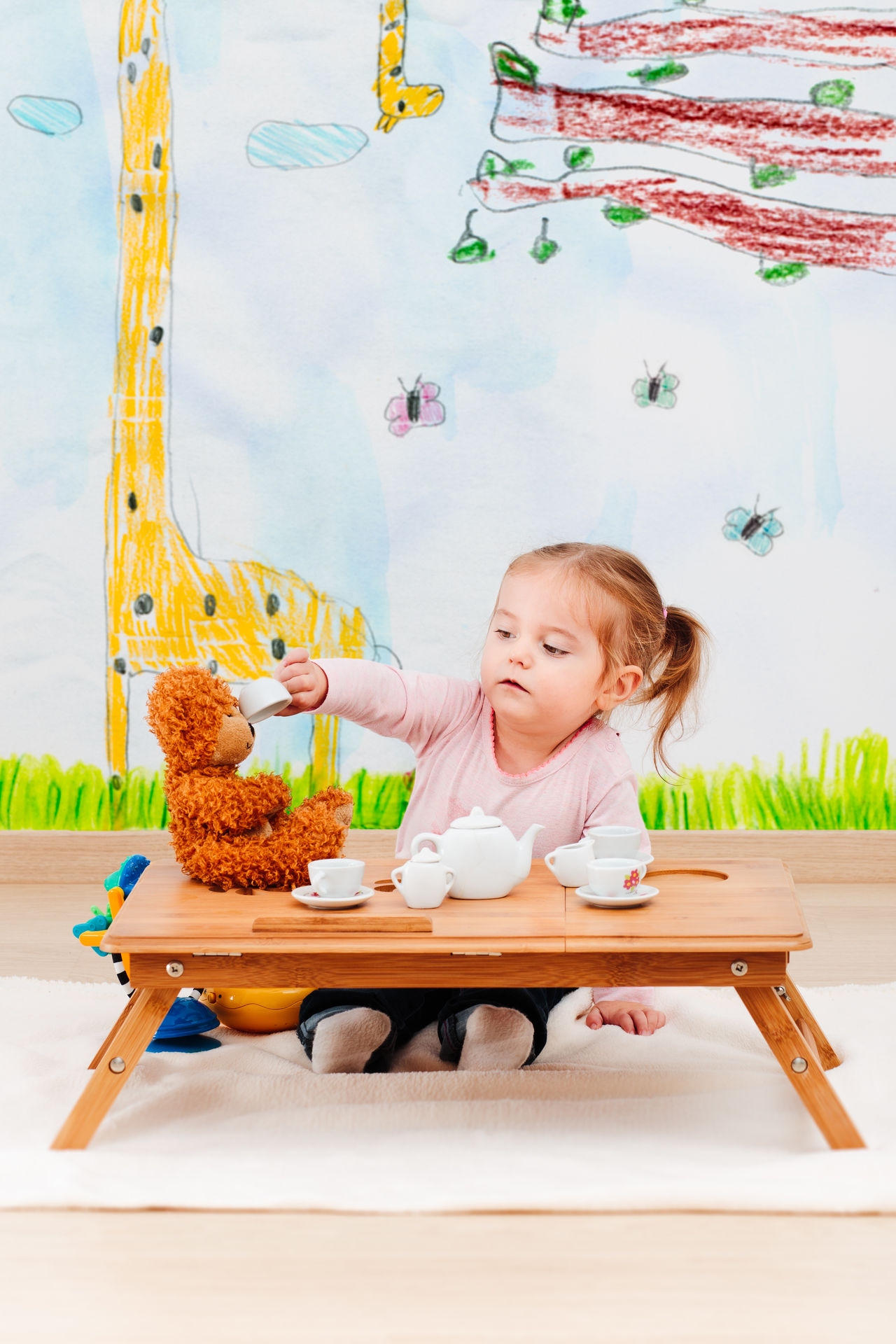 Beautiful stock photos of baer,  18-23 Months,  At Home,  Baby Girls,  Blanket