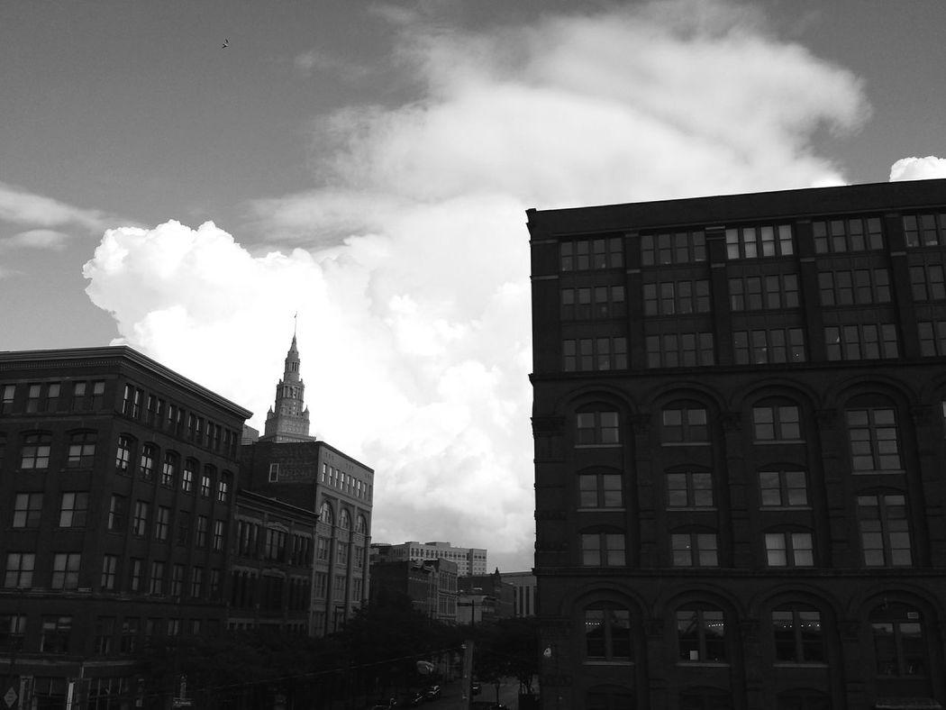The Terminal Tower was the fourth tallest building in the world in 1930. Architecture Cityscapes Monochrome Black & White Fortheloveofblackandwhite B&w Street Sky And Clouds Cleveland This Is CLE Downtown Cleveland Terminal Tower Clevelandgram City Ohio Cityscape Black And White Architecture_collection Building Buildings & Sky Weather Clouds High Contrast The Architect - 2016 EyeEm Awards The Street Photographer - 2015 EyeEm Awards
