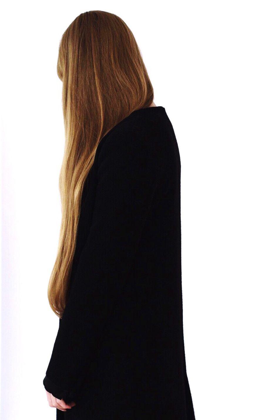 Beautiful stock photos of fashion, rear view, long hair, studio shot, one woman only