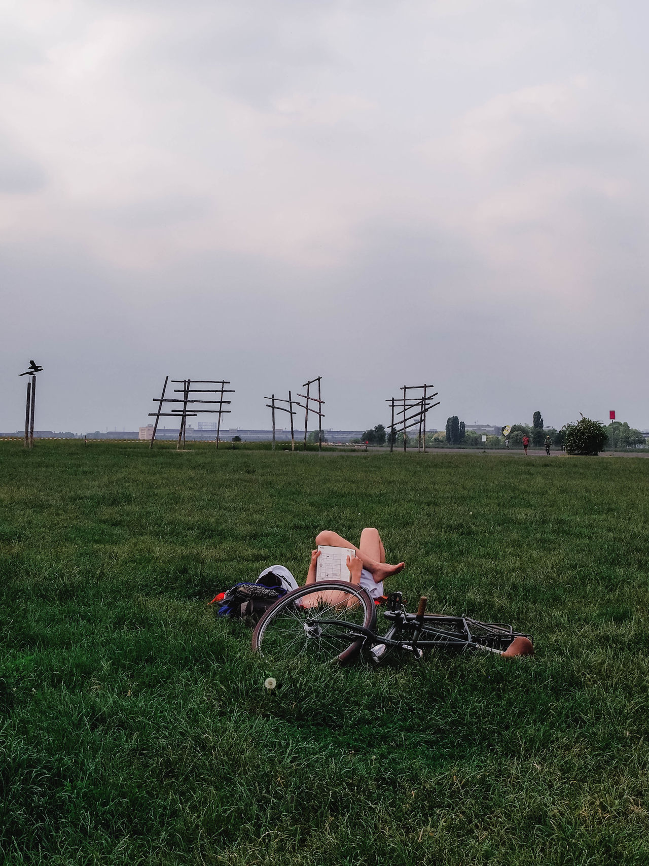 Recharge from your alone time. Berlin Bird Chill Cloudy Day Europe Germany Outdoors Park People People Watching Read Relaxing Relaxing Moments Tempelhofer Feld Weekend EyeEmNewHere