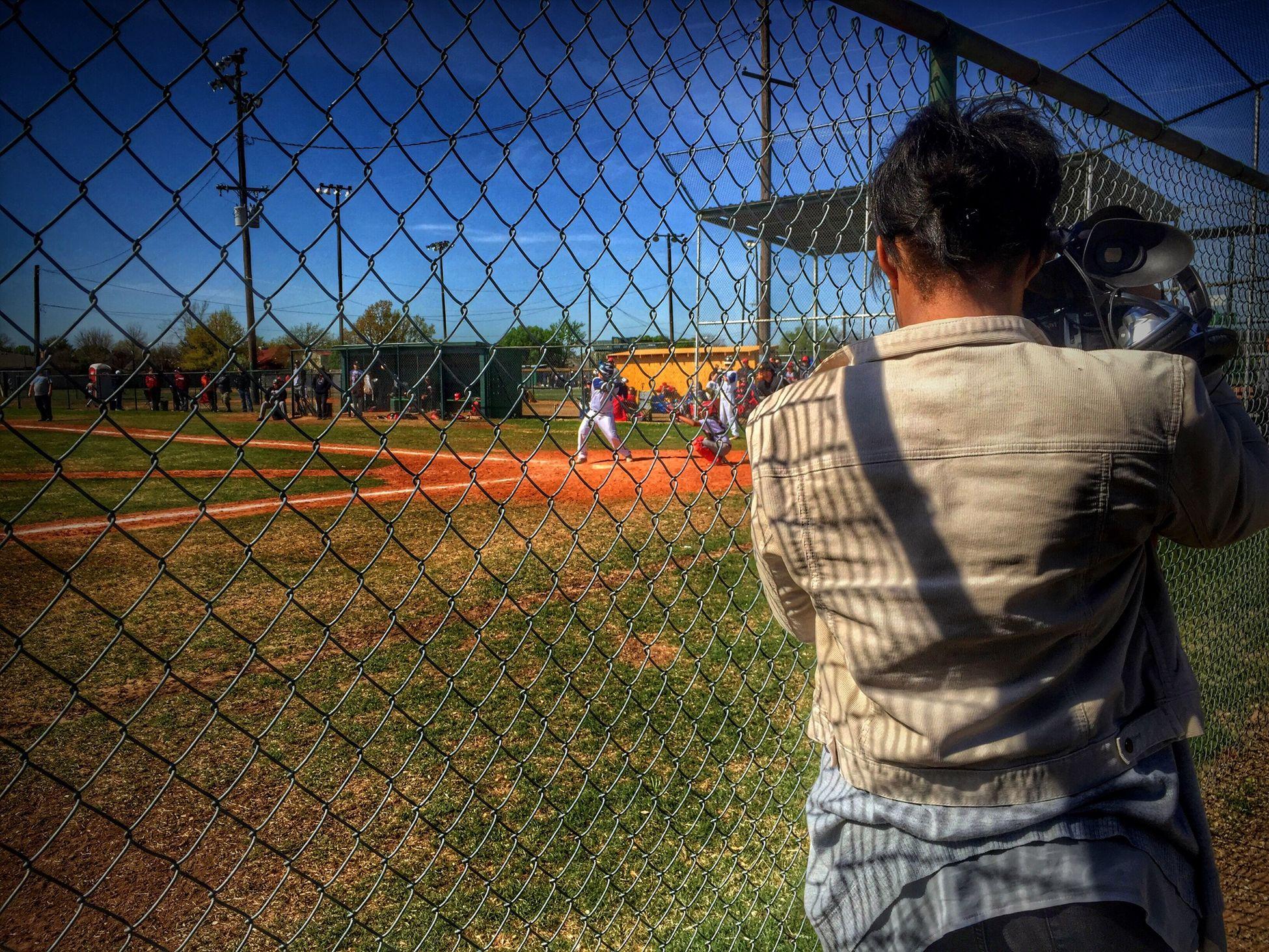 I'm capturing A friend capturing Shane at bat!! ⚾️❤️ Enjoying The Sun watching some Baseball