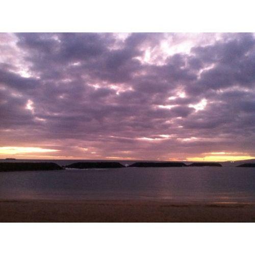 Yesterday's sunset Purplehaze Sunset Instahi Instahub oahu hawaii latepost