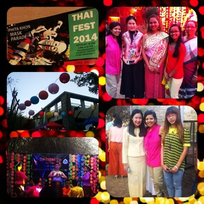 Fraternizing the Thai way! Thaifest2014 Phitakhon Universityofpune 100happydays day4