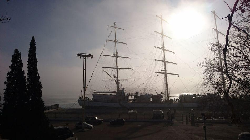 Утро в Севастополе. Херсонес в тумане. Sevastopol