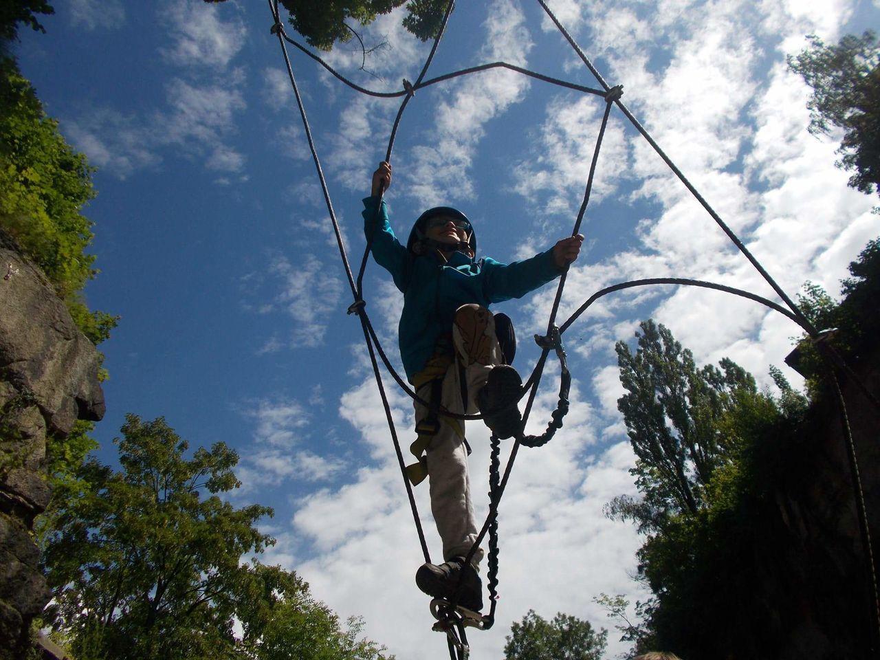 Adrenaline Adult Blue Sky Children Climbing Crazy Time Dramatic Liberec Relax Sport Via Ferrata
