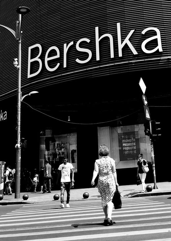 Bucharest, Romania - July 20, 2017: View with pedestrian crossing from the Bershka shop located in Unirea Shopping Center, in Unirii Square, Bucharest, Romania. July 20, 2017 Bucharest, Romania Bucureşti Busy City Crosswalk Road Walk Bershka Crossing Crowd Inditex Lifestyles Outdoors Outdoors Photograpghy  Pedestrian Pedestrians People Shop Shopping Mall Street Street Photography Urban Urban Skyline Vibrant Color Walking EyeEm Selects