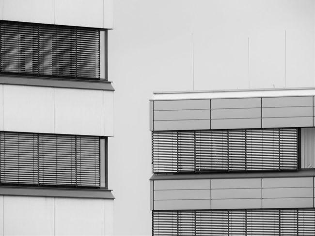 Grayscale. Architecture Backgrounds Blackandwhite Building Building Exterior Built Structure Day Full Frame Gray Grayscale Karlsruhe Modern Modern Architecture No People Office Building Outdoors Tall Buildings Windows