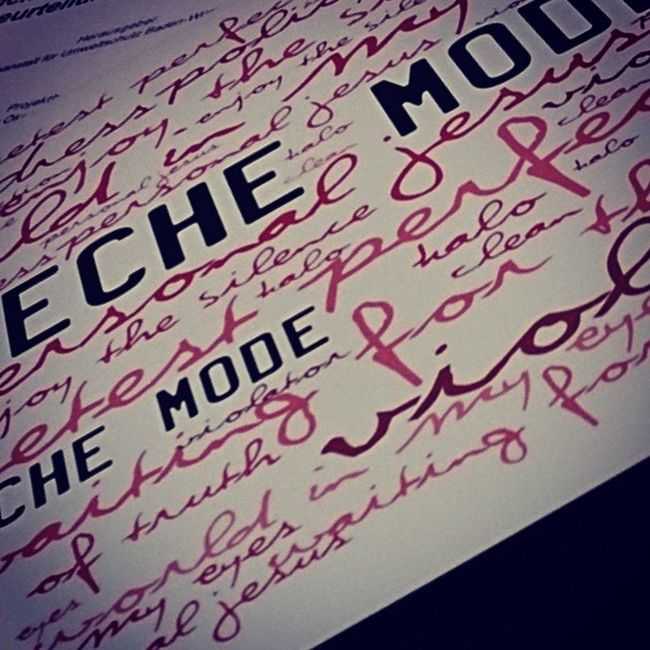 I love it Depechemode Demo Bestmusikever Limitiert