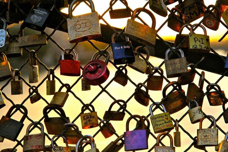 Paris, France  Pont Des Arts Love Bridge Love Padlocks Eternal Love