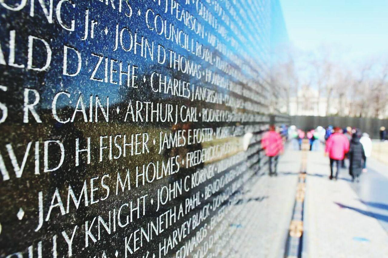 Washington, D. C. Vietnam War Memorial
