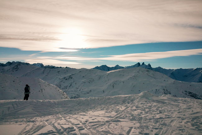 French Alps Mountains Ski Resort  Valmeinier Ski France Landscape