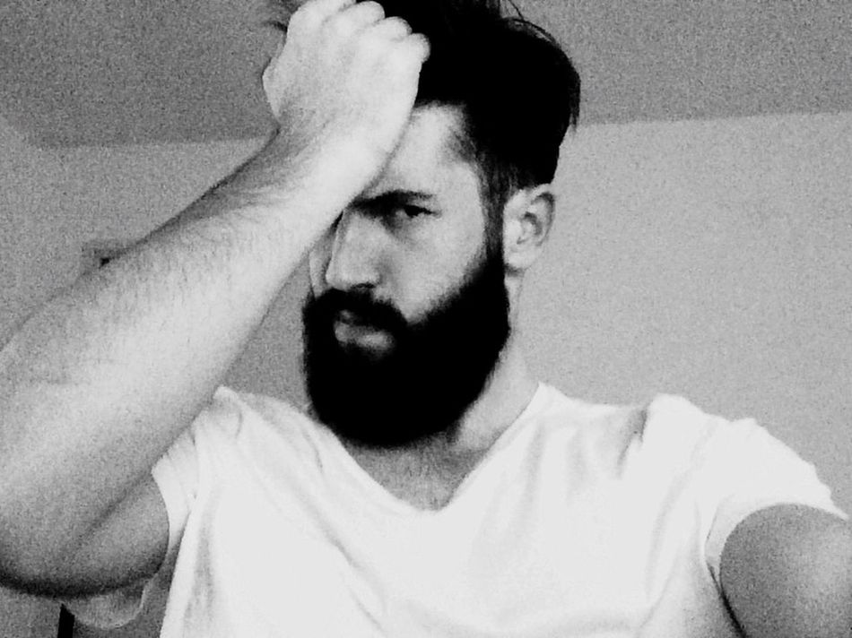 Beard Light And Shadow Blackandwhite Self Portrait
