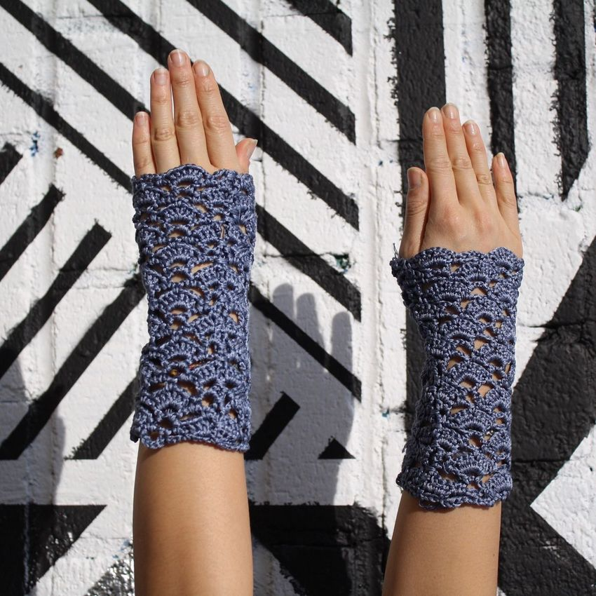 Armwarmer Arm Warmers Crochet Handsup  Graffiti
