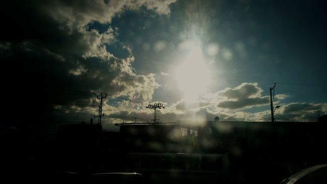The Sun... Sun Sunlight Sky Low Angle View Cloud - Sky Bright Cloud Lens Flare Sunny Outdoors EyeEm Gallery Taking Photos Huaweig7 Road Grandview Alone Time Freedom