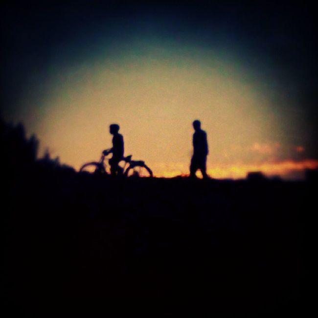 Returning Home ... Sunset Lategram .. was shot almost 2yrs ago somewhere near Balkhu olddays