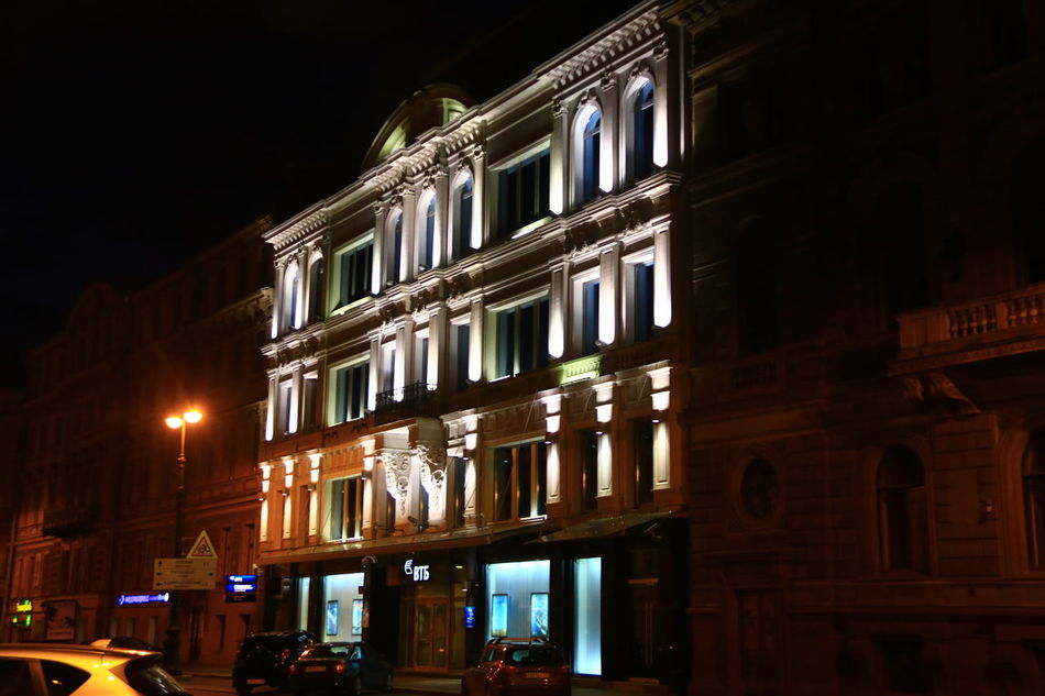 Night Illuminated Architecture Building Exterior Travel Destinations Low Angle View Façade Travel City Outdoors Built Structure No People Sky Cityscape