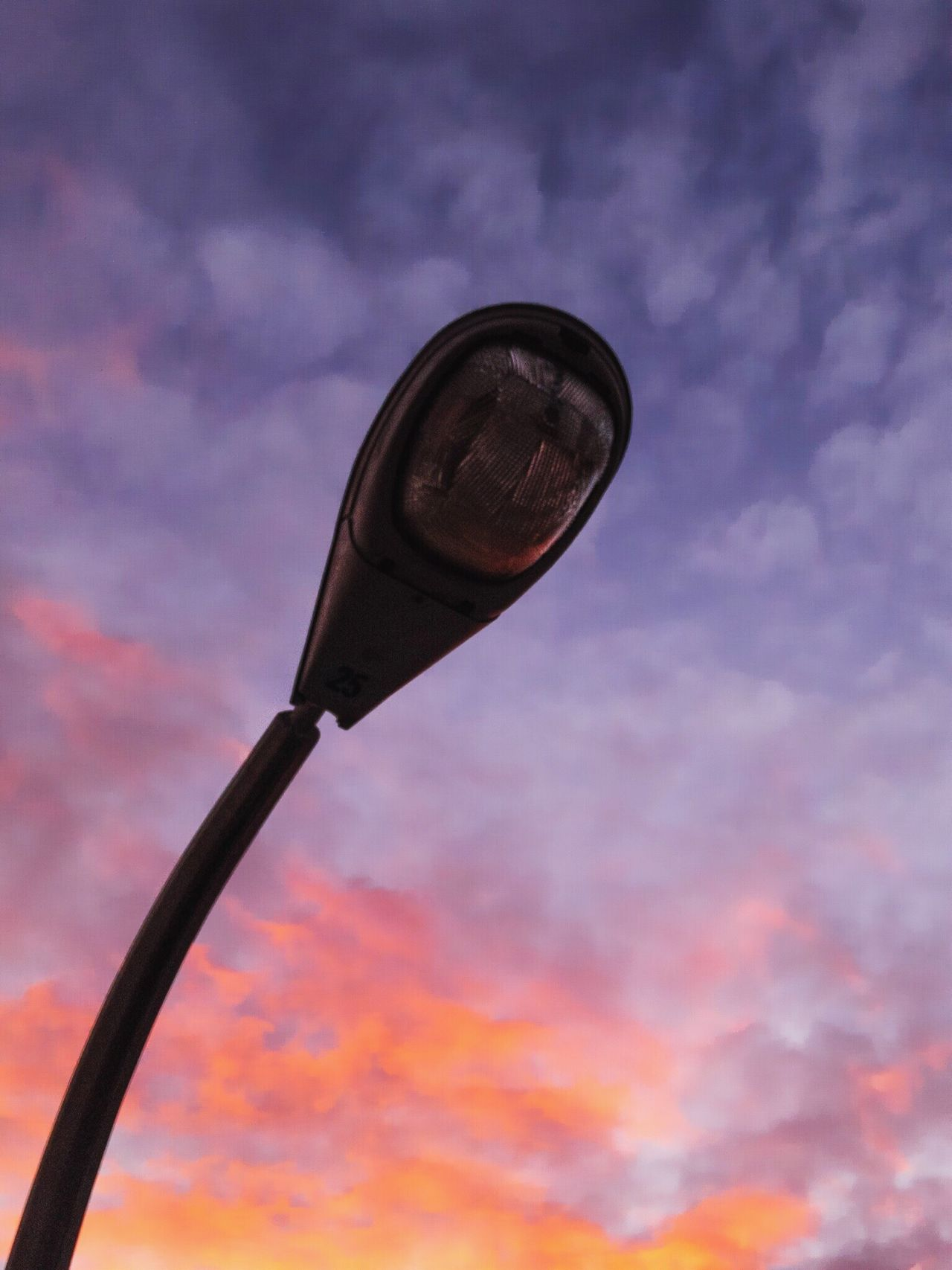 Sky Low Angle View Outdoors Sunrise Sunset Streetlight Streetlamp