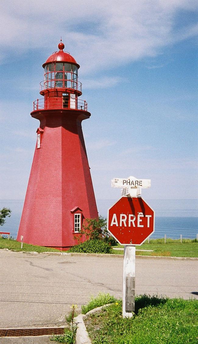 Lighthouse Canada Red Stopsign Sommer Scenics La Martre (Québec)