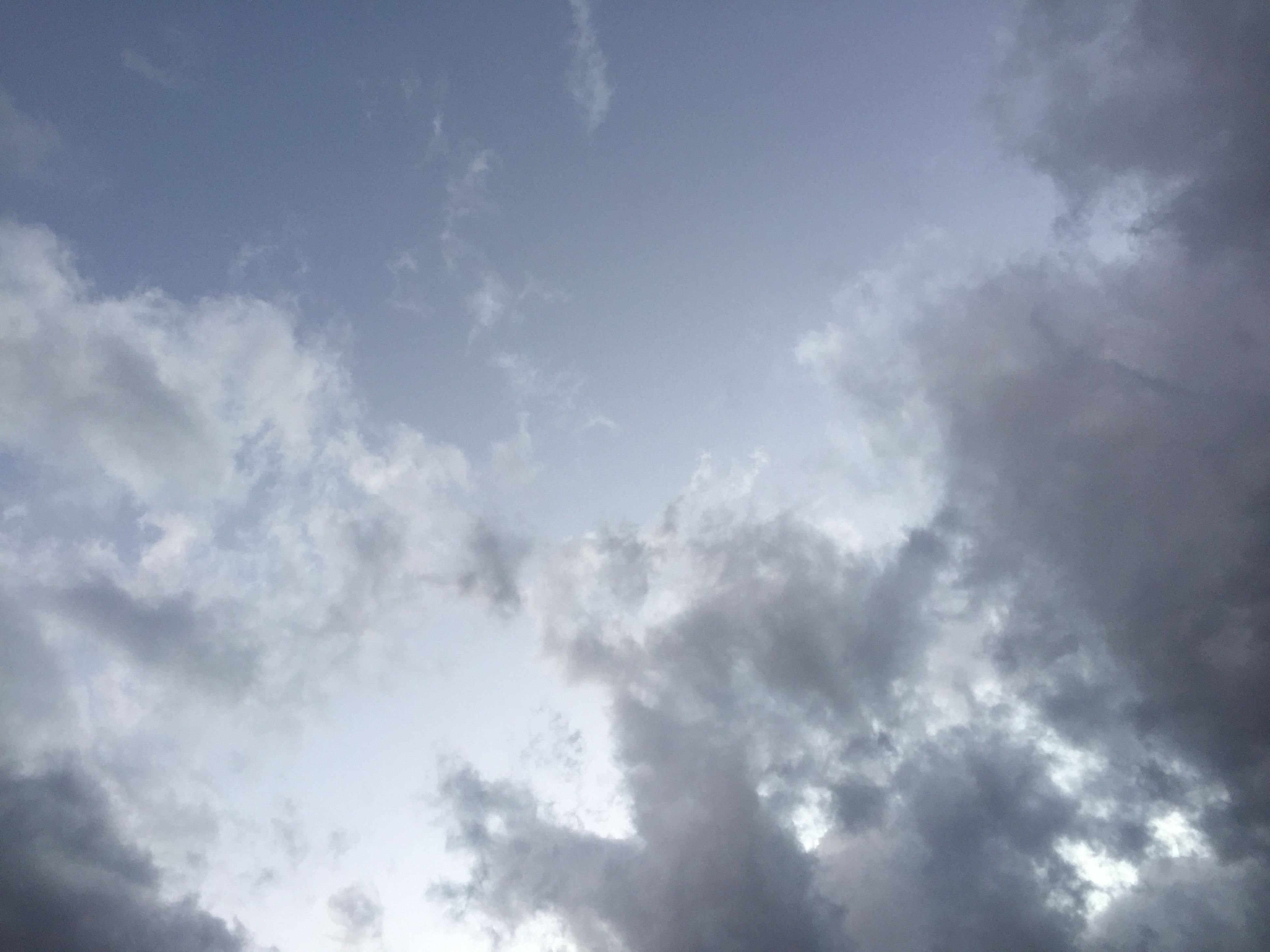 sky, low angle view, cloud - sky, sky only, beauty in nature, cloudy, tranquility, scenics, nature, cloudscape, tranquil scene, backgrounds, cloud, blue, full frame, idyllic, weather, outdoors, white color, day