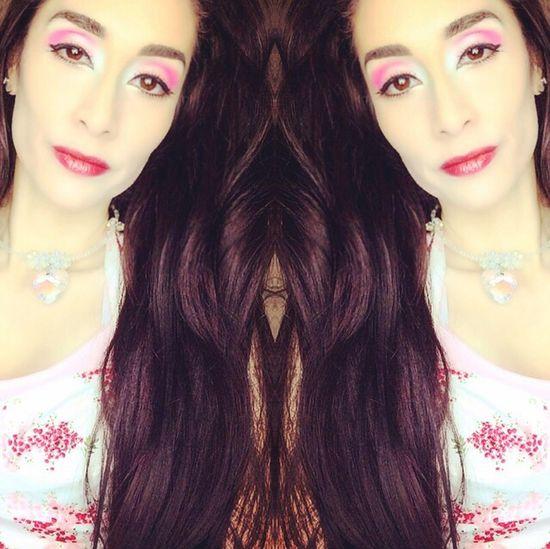 Selfie ✌ Self Selfies Selfie Portrait Selfie✌ Hispanic Hispana Long Hair Model Modeling Lanky Brown Eyes Coastal Scents Makeup Blogger Mirrored