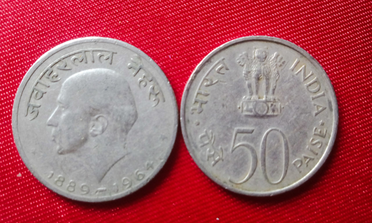 Old Indian coin Old Coin Collection Jawaharlal Nehru First Prime Minister 1889-1964 50 Paise My Collection EyeEm Gallery Finance Coins Currency Indian Currency From A Different Perspective Showcase June 43 Golden Moments From My Point Of View Indian Old Coins Coins Collection The OO Mission