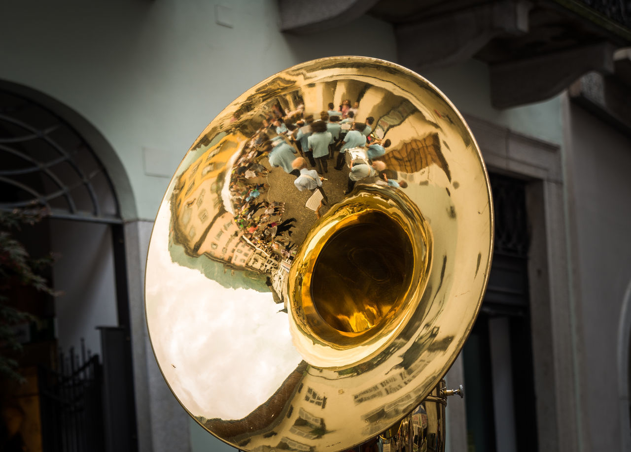 Arts Culture And Entertainment Close-up EyeEm Gallery Music Musical Instrument Musical Instruments Reflection TakeoverMusic Yellow Yellow Color