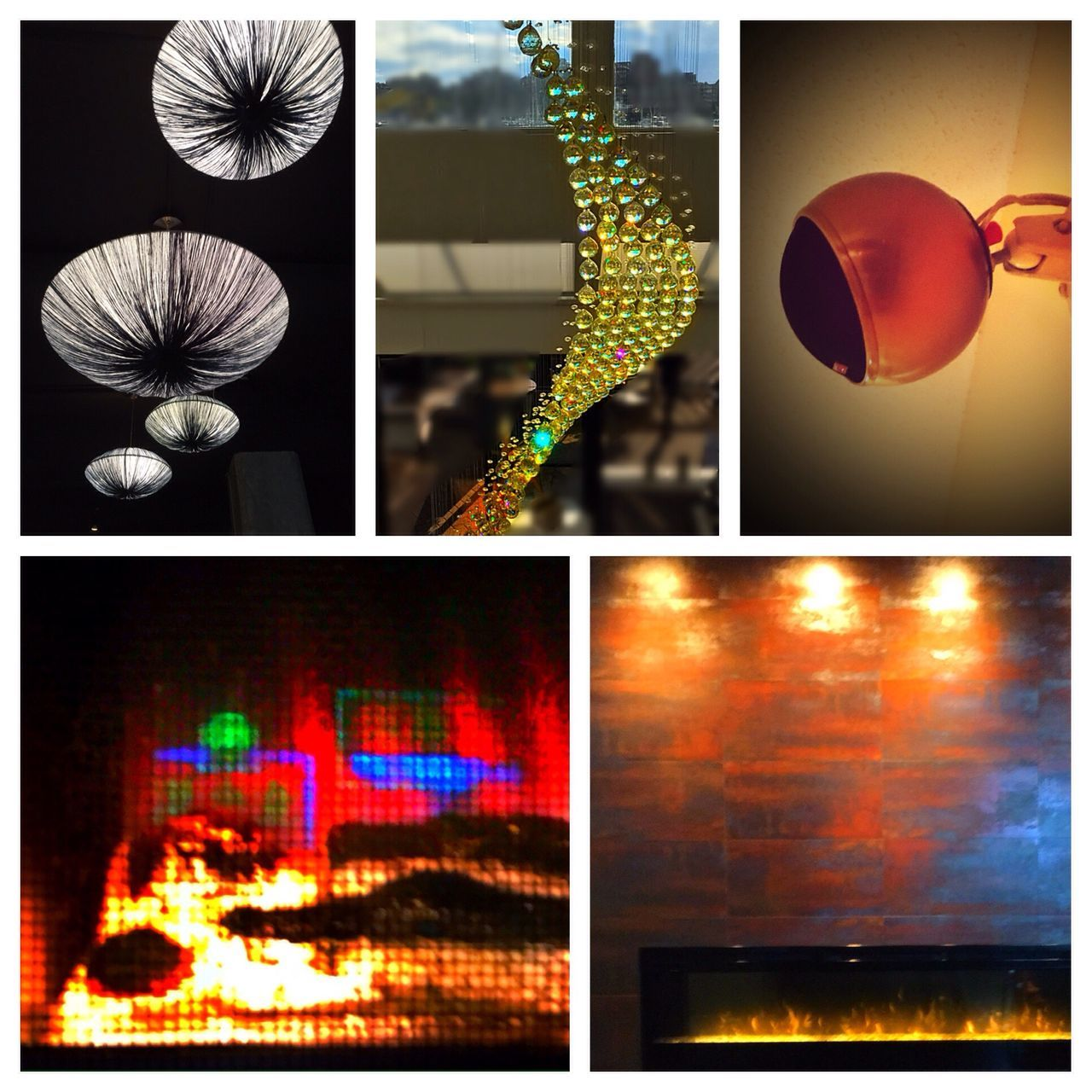 Collage of restaurant lights. Artsy Photography Creative Shots Vancouver BC Creative Editing Showcase July Abstractions In Colors Photo Art Industrial Design Industrial Lighting Chandelier Fine Art Photography Yaletownvancouver Collage Art Restaurant Decor Restaurant Lights