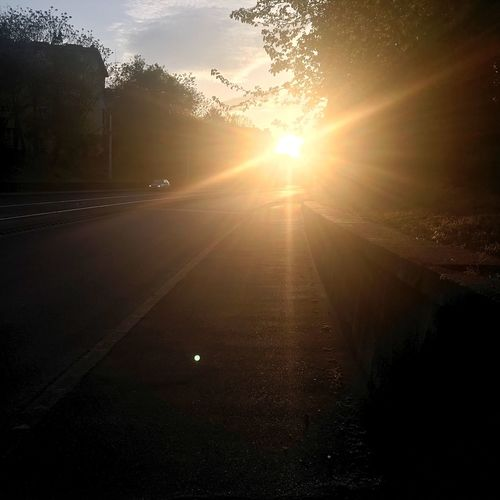 Sun Sunbeam Lens Flare The Way Forward Sunlight Diminishing Perspective Sunset Vanishing Point Sky Road Bright Tranquility Nature Tranquil Scene Outdoors Sunny Beauty In Nature Landscape Cloud Empty Day IPhoneography Iphonephotography Iphone6s Miskolc