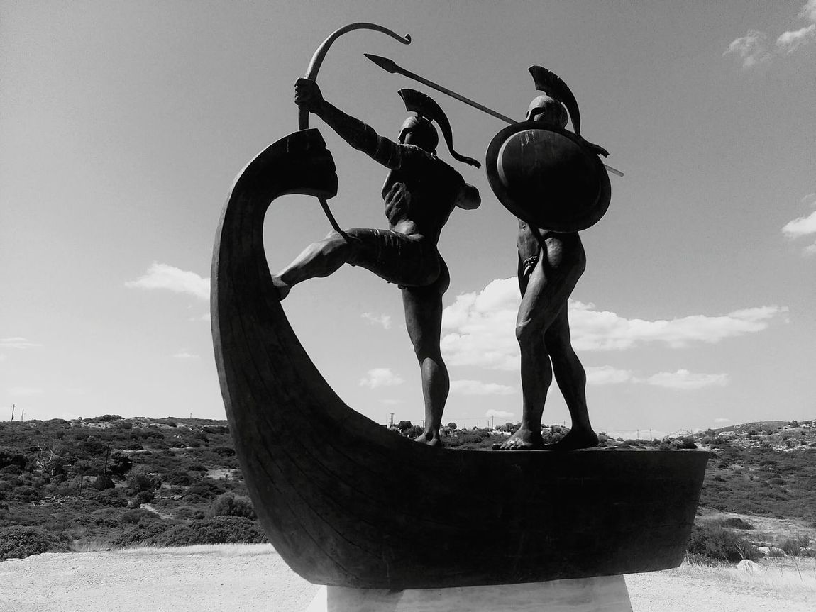 Blackandwhite Statue GREECE ♥♥ History Salamis Black & White