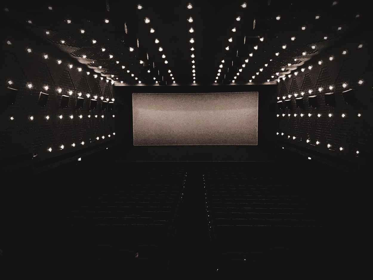 No People Backgrounds Indoors  Low Angle View Technology Projection Screen Illuminated Stage Light Architecture
